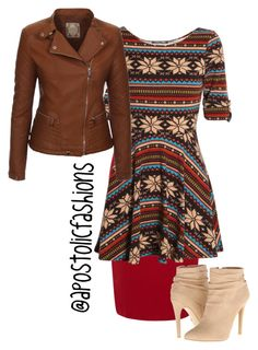 """Apostolic Fashions #838"" by apostolicfashions on Polyvore featuring Dorothy Perkins, Club L and Michael Antonio"