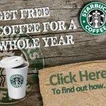 Free Starbucks Coffee For A Year - Gratisfaction UK Freebies
