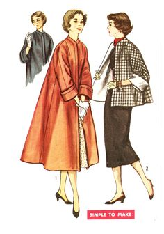 Simplicity 4191 Misses  Vintage 1950s Swing Coat or Topper Jacket Sewing  Pattern by DRCRosePatterns on 4007466ccdb