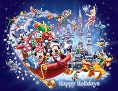 happy holiday Disney Parks wishing Everyone a Happy Holidays! Disney Merry Christmas, Mickey Mouse Christmas, Christmas Cartoons, Mickey Mouse And Friends, Mickey Minnie Mouse, Christmas Popcorn, Christmas Characters, Disney Characters, Disney Parks