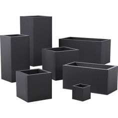 Shop Blox Hi-Gloss Modern White Planters. Brite white planters square up sleek and modern. Protected for indoor and outdoor settings, hi-gloss lacquered galvanized steel plays up refined industrial to dramatic effect. Galvanized Planters, Black Planters, Modern Planters, Galvanized Steel, Cheap Planters, Large Outdoor Planters, Rustic Planters, Tall Planters, Concrete Planters