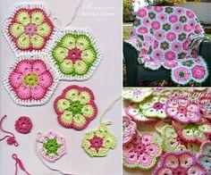 crochet daisy blanket - Pesquisa Google