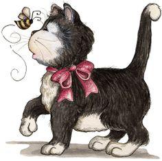 View album on Yandex. Illustration Mignonne, Cute Illustration, I Love Cats, Crazy Cats, Decoupage, Art Mignon, Photo Chat, Cute Clipart, Cat Art