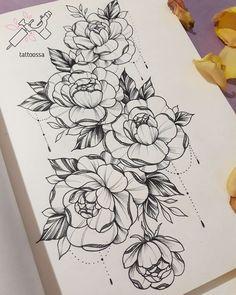 55 Simple Small Flowers Tattoos Drawing Tattoos Ideas For Women This Season - flower tattoos ideas Neue Tattoos, Body Art Tattoos, Sleeve Tattoos, Drawing Tattoos, Tatoos, Hip Thigh Tattoos, Hip Tattoos Women, Flower Tattoo Designs, Flower Tattoos