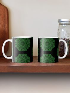 Green Mandala Pattern - Just Let Go Mug Mandala Pattern, Letting Go, Ceramics, Let It Be, Mugs, Green, Prints, Accessories, Design