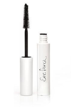 Natural Almond Oil Mascara // Ere Perez    Glossy black natural mascara with almond oil. Conditions and strengthens lashes with vitamin E. Ideal for sensitive eyes and contact lenses.