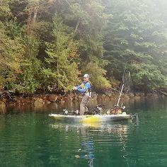 Getting it done on the Radar 115. Hooked into a 17.4 lb Chinook salmon. #wildyfishing #radarlove # radar115 #stableasarock #pikeyaker