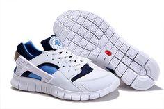 brand new 023fb cb8d1 NIKE HUARACHE FREE 2012 MEN RUNNING SHOES WHITE ROYAL-NAVY  66.38 Running Shoes  Nike
