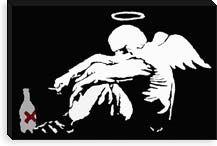 Drunken Angel by Banksy
