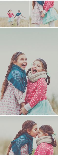 Too cute. Photoshoot of two little sisters.