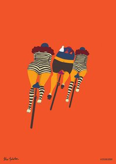 Fat bottomed girls will be riding today, so look out for those beauties, oh yeah. A CYCLING STORY - PRINTS BY NIKI FISHER