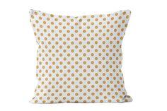 Neutral Polka Dot Pillow Cover contemporary home decor