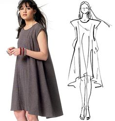 Dressmaking Sewing Pattern Ladies Stylish Dresses Size 14 - 22 NEW Mccalls Patterns, Sewing Patterns Free, Clothing Patterns, Dress Patterns, Star Patterns, Star Fashion, Diy Fashion, Fashion Design, Latest Fashion