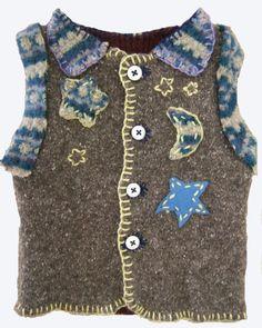 HAND MADE ORIGINAL Design Sweater Vest (Age: 6 Months) - For SALE - For payment details send email at artwork@ZubArt.net