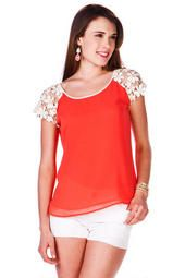 Palm Harbor Crochet Top from Francesca's Collections