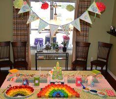 Rainbow Garden Birthday party