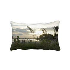 Beachside Volleyball Throw Pillows