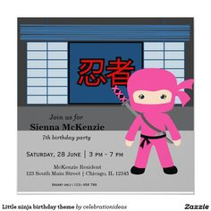 Sold. Little #ninja #birthday #invitation #kids #costumeparty Available in different products. Check more at www.zazzle.com/celebrationideas