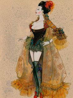 """""""Fanny Hill"""", London Prostitute Costume Designed by Gregg Barnes; Burlesque, Character Creation, Character Design, Drag Clothing, Costume Design Sketch, Saloon Girls, Theatre Costumes, Character Costumes, Fashion Art"""