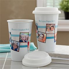 These are SO cute and will save you tons of money! You can create your own Personalized Reusable Travel Tumblers with your own favorite photos and message! This is a great way to brighten yourself up during carpool or work! #Coffee #Travel #Carpool #Work #Mom
