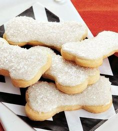 Brittle Bone Cookies Recipe ~ Treat your guests with these cookies that are made with few ingredients... a perfect Halloween dessert.