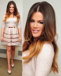 khloe kardashian ombre hair hair-and-beauty