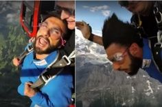 "Befikre Ranveer Singh Enjoying Freedom By Skydiving In Beautiful Switzerland  >>> A true Indian by heart on a foreign land, he celebrated independence day by enjoying ""Freedom of a different Kind"". He did #skydiving with the professional help of a skydiving expert and a parachute. He posted his video on all social media accounts and wished his fans ""Happy Independence Day"".  #RanveerSingh  #Switzerland"