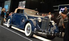 From carBuyingTips.com a 1935 Packard 1207 Convertible which sold last week at #barrettjackson #auction in Palm Beach.  We captured this shot as it sold on the auction block for $300,000 but the 10% buyer's premium of $33,000 brought the total up to $330,000. That's why we  say to keep in mind your buyer's premium when bidding!*  #antiquecars #tbt #tbthursday #throwback #barrettjacksonauction Barrett Jackson Auction, Throwback Thursday, Palm Beach, Cool Cars, Convertible, Antique Cars, The Past, Bring It On, Vintage Cars