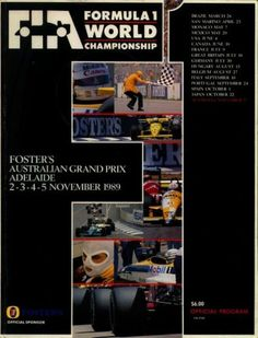 World Championship Result, Report, The statistics, All the drivers, All the models Formula 1 Gp, Automobile, Adelaide South Australia, Australian Grand Prix, Racing Events, F1 Racing, World Championship, Vintage Posters, The Fosters