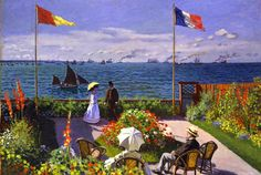 "Claude Monet, ""Il giardino a Sainte Adresse"" (1867) Olio su tela - 98.1 x 129.9 cm – Metropolitan Museum, NY"