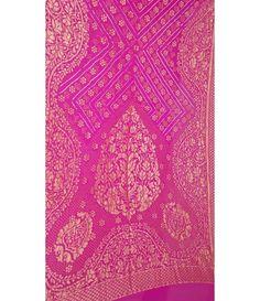 Pink Georgette Banarasi Bandhani Saree
