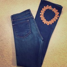 J Brand Straight Leg Jeans Style #805CO12 J Brand Straight Leg jeans size 28, dark wash with orange stitching. Some fading on the back cuff of the legs as shown in picture. 98% cotton 2% spandex. I accept all reasonable offers! J Brand Jeans Straight Leg