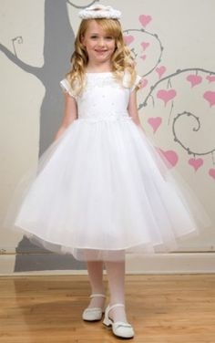 Jewel Cap Sleeves Ball Gown Adorable Flower Girl Dresses, Jewel Flower Girl Dresses, Flower Girl Dresses