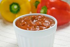 Ajvar Chili, Dips, Soup, Pudding, Desserts, Pesto, Salsa, Serbian Recipes, Red Bell Peppers