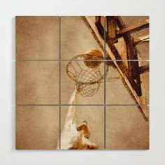 Buy Basketball sport art #basketball Wood Wall Art by jbjart. Worldwide shipping available at Society6.com. Just one of millions of high quality products available. Buy Basketball, Wood Square, Sports Art, Meet The Artist, Wood Wall Art, Artwork, Products, Work Of Art, Wooden Wall Art