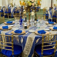 Royal blue and gold decorations pretty pinteres ideas and decorations for beauty and the beast wedding ceremony and reception junglespirit Images
