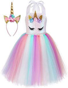 Girls Dress Up, Dress Up Outfits, Flower Girl Dresses, Unicorn Outfit, Unicorn Costume, Unicorn Headband, Unicorn Dress Girls, Unicorn Clothes, Unicorn Birthday Parties