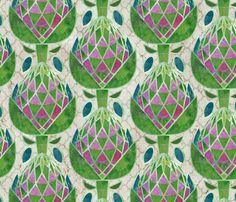 Geodesic Artichokes fabric by sarah_treu on Spoonflower - custom fabric