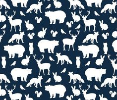 Crib Sheet in Navy Woodland Party, Deer Baby or Toddler Fitted Crib Sheet, Blue Baby Boy Bedding, Hunting Woodland Nursery, Bear, Fox on Etsy, $65.00