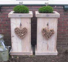 Moederdagtip  !!! Steigerhouten bloembakken...te bestellen bij Www.candlewood.nl