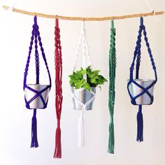 New addition! Add a beautiful, little artificial succulent to your mini plant hanger