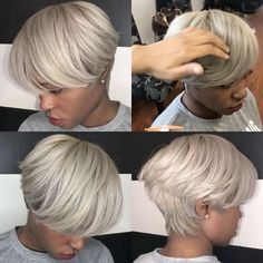 Gray Grown Out Pixie