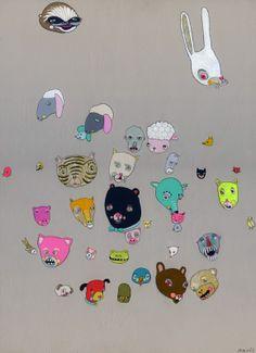 Assortment - Jennifer Davis Art   http://jenniferdavisart.blogspot.com #art #painting #animals
