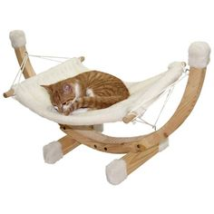 New Cat Hammock Bed Swing Sleep Pet Supplies Toys Pets Home Dog Kitten Food Modern Cat Furniture, Pet Furniture, Furniture Design, Furniture Outlet, Discount Furniture, Kitten Food, Diy Hammock, Cat Basket, Cat Enclosure
