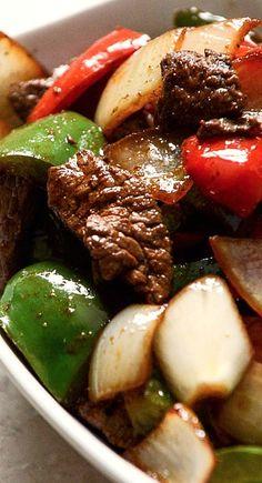 Chili Garlic Beef Stir Fry with Coconut Jasmine Rice