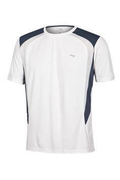 RAINHA T-SHIRT SERTHE M - Camiseta de malha leve com gola em ribana, recortes em tecido texturizado, logotipo em relevo.