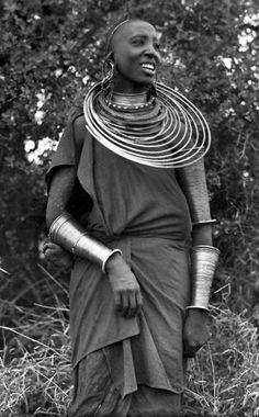 "Africa | Masai woman. Kenya. ca. 1924 - 1941. || Vintage postcard; photographer C Zagourski.  No 156 / Series 2  ""L´Afrique qui disparaît"""