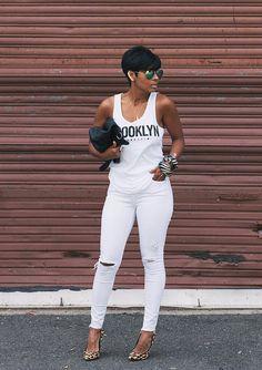 Ecstasy Models • White on White Jeans:: Topshop, Leopard Pumps:: ...
