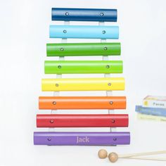 personalised wooden xylophone by my 1st years | notonthehighstreet.com