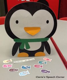 Carrie's Speech Corner:  Feed the Penguin FREE download featuring bilabial sounds (p,b,m) in CV, CVC, and CVCV sequences.